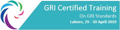 GRI Certified Training - Lahore - 29 - 30 April, 2019